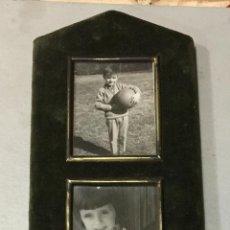 Vintage: ANTIGUO PORTAFOTOS DE TERCIOPELO CON CRISTAL Y BORLA FINAL, VINTAGE, AÑOS 60. MIDE APROX 39X12CM. Lote 48506414