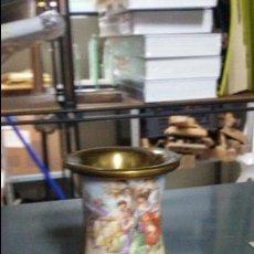 Vintage: COPA DE BRONCE Y ESMALTES POSIBLE LIMOGES MEDIDA 9 X 5,5 CM.. Lote 48516941