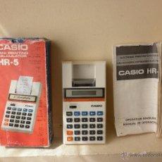 Vintage: CASIO MINI CALCULADORA IMPRESORA ELECTRONICA HR-5 AÑOS 80. Lote 48585976