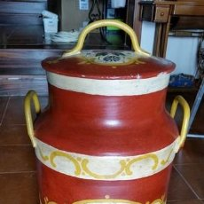 Vintage: LECHERA DECORADA A MANO. Lote 48716020