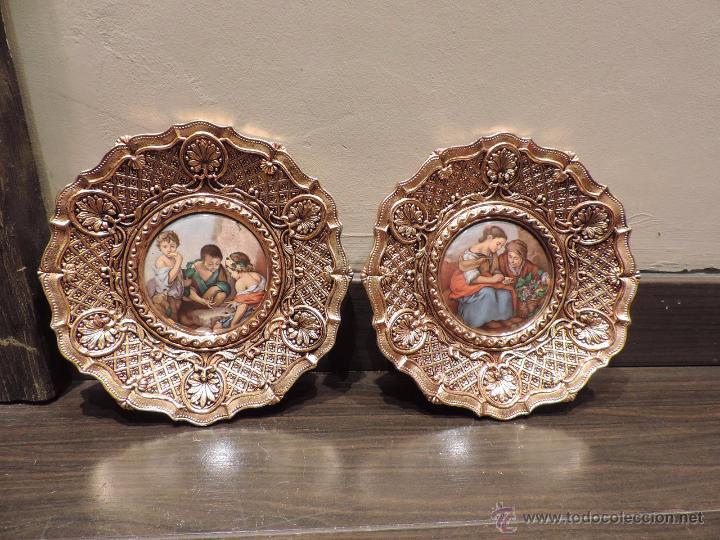 Platos decorativos para colgar en metal con esc comprar en todocoleccion 48740832 - Platos decorativos pared ...