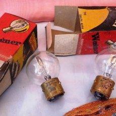 Vintage: PAREJA DE VIEJÍSIMAS BOMBILLAS DE 6 V. Lote 48769906