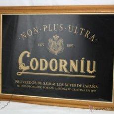 Vintage: CUADRO / ESPEJO PUBLICITARIO DE CODORNÍU. PROVEEDOR DE LOS REYES DE ESPAÑA - MEDIDAS 60 X 46 CM. Lote 48773130