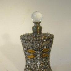 Vintage: PERFUMERO DE CRISTAL Y METAL CON PEDRERIA . Lote 48826171