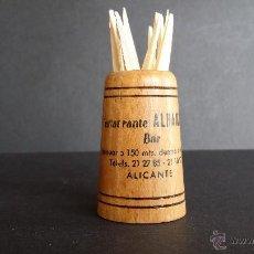 Vintage: PALILLERO DE MADERA PUBLICIDAD RESTAURANTE ALHAMBRA, ALICANTE.. Lote 48962384