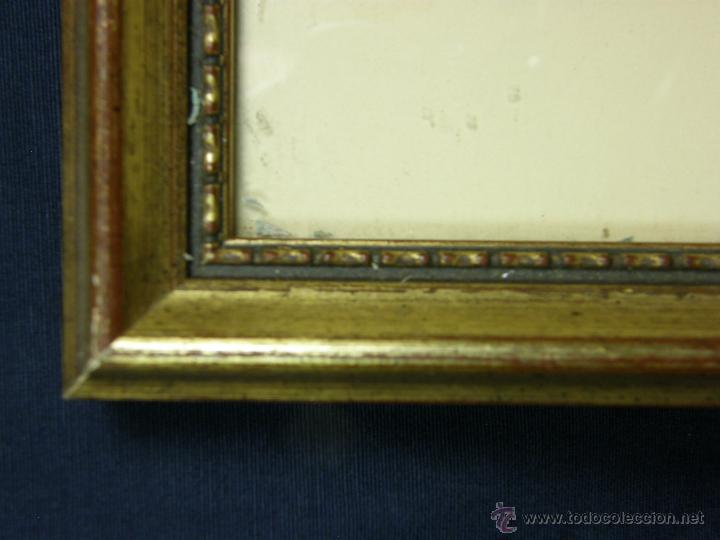 Vintage: marco madera estucada dorada perlado oval decorativo lamina madre hijos 42,5x36cms - Foto 2 - 181292520