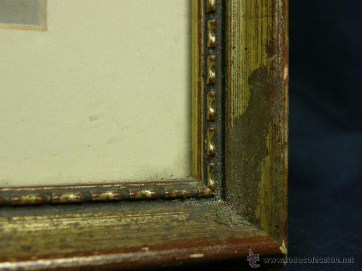 Vintage: marco madera estucada dorada perlado oval decorativo lamina madre hijos 42,5x36cms - Foto 4 - 181292520