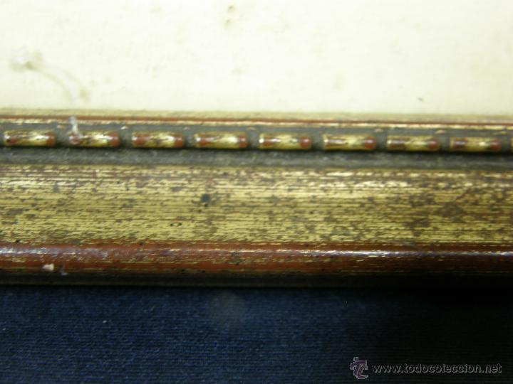 Vintage: marco madera estucada dorada perlado oval decorativo lamina madre hijos 42,5x36cms - Foto 5 - 181292520