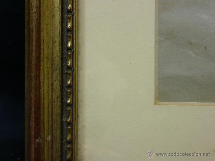 Vintage: marco madera estucada dorada perlado oval decorativo lamina madre hijos 42,5x36cms - Foto 6 - 181292520