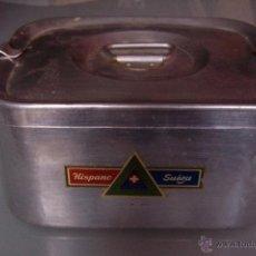 Vintage: FIAMBRERA DE ACERO HISPANO SUIZA, MIDE 10,5 POR 21 CMS.. Lote 48975014
