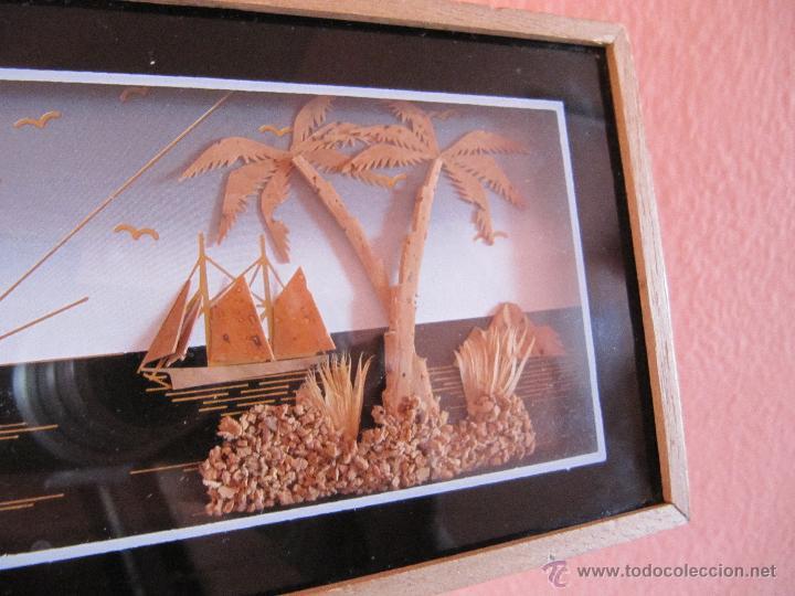 Lote 2 preciosos cuadros hechos con corcho a os comprar for Cuadros con corchos