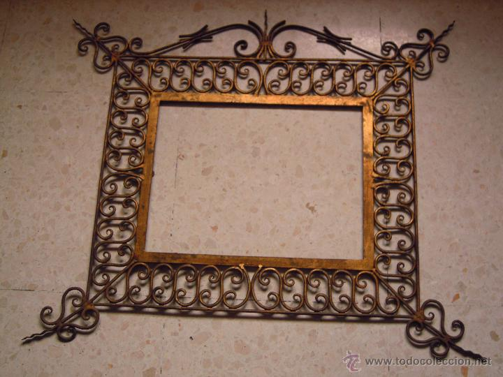 Marco para espejo hierro dorado comprar en todocoleccion for Marco espejo vintage