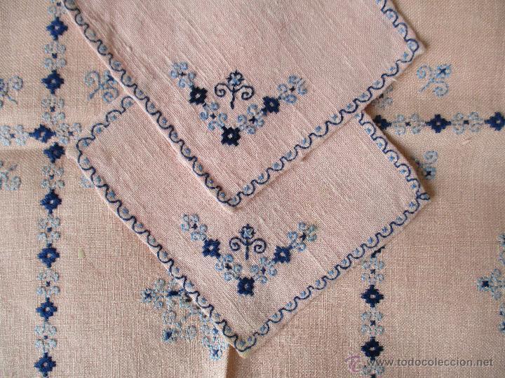 Antiguo Tapete Mantel Para Bandeja Bordado A M Comprar En - Manteles-para-bordar