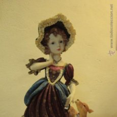 Vintage: GRAN FIGURA DE RESINA SOBRE SOPORTE DE MADERA 51CM -REF500-. Lote 49296232