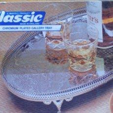 Vintage: BANDEJA CROMADA INGLESA. Lote 49349838