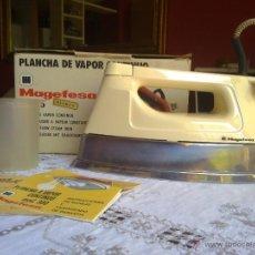 Vintage: PLANCHA VINTAGE MAGEFESA A VAPOR CONTINUO FUNCIONANDO COMPLETA DEL AÑO 1979 CON CAJA ORIG VER FOTOS. Lote 49461918
