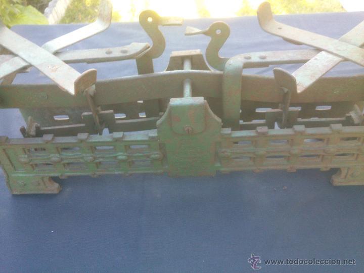 Vintage: ANTIGUA BALANZA BASCULA hierro fundido forja 10KG - Foto 2 - 49579201