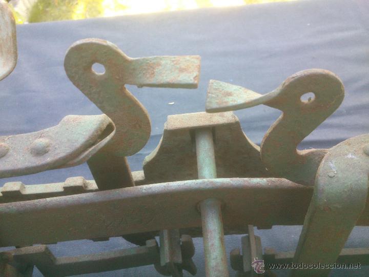 Vintage: ANTIGUA BALANZA BASCULA hierro fundido forja 10KG - Foto 6 - 49579201