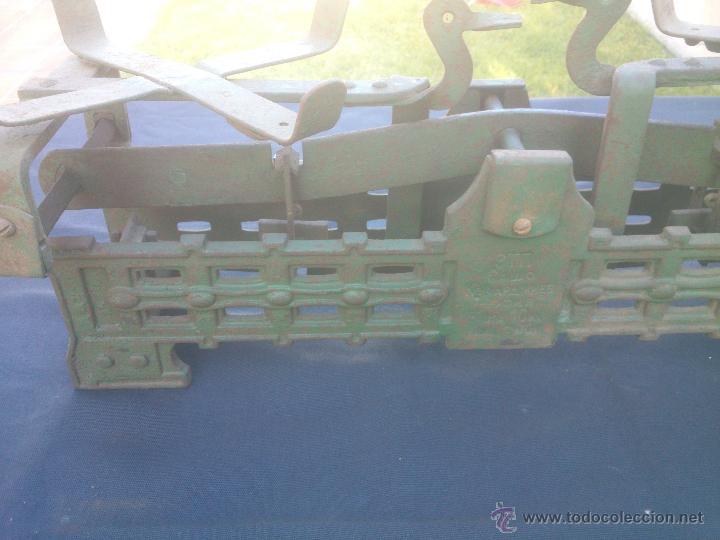 Vintage: ANTIGUA BALANZA BASCULA hierro fundido forja 10KG - Foto 8 - 49579201