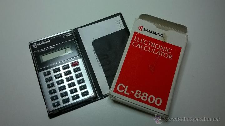 CALCULADORA SAMSUNG (ELECTRONIC CALCULATOR) CL-8800, CON CAJA+INSTRUCCIONES, FUNCIONANDO (Vintage - Varios)