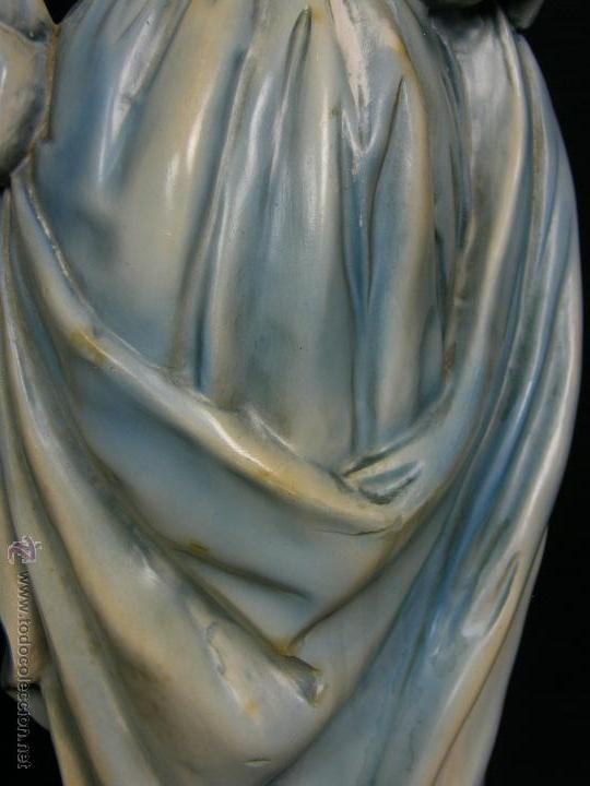 Vintage: figura escayola ceramica pastora siguiendo modelos ramón amadeu mitad s XX 55x19cms - Foto 5 - 49690208