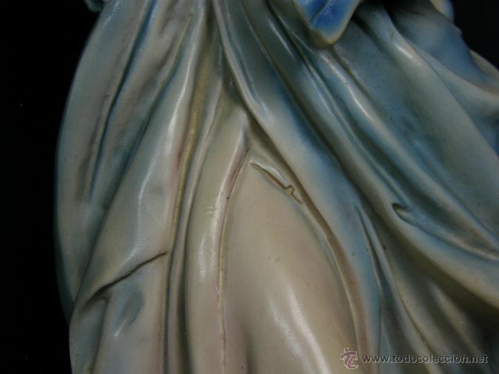 Vintage: figura escayola ceramica pastora siguiendo modelos ramón amadeu mitad s XX 55x19cms - Foto 9 - 49690208