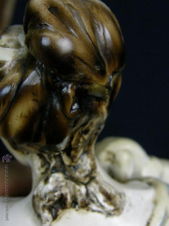 Vintage: figura escayola ceramica pastora siguiendo modelos ramón amadeu mitad s XX 55x19cms - Foto 10 - 49690208