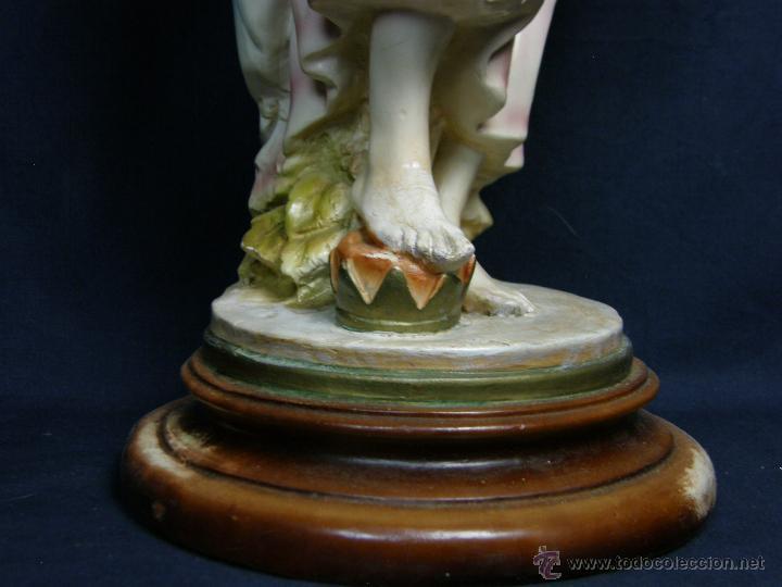Vintage: figura escayola ceramica pastora siguiendo modelos ramón amadeu mitad s XX 55x19cms - Foto 15 - 49690208