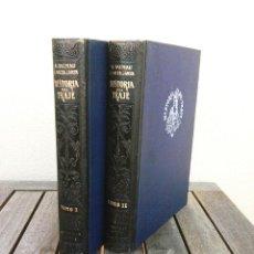 Vintage: II TOMOS-HISTORIA DEL TRAJE-AÑO 1946,IMPRESIONANTES DIBUJOS DE LA MODA ANTIGUA Y SU EVOLUCION,VEALO. Lote 49842920