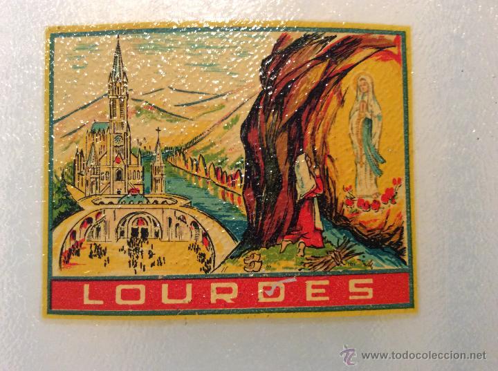 Vintage: Cantinplora años 60 viaje a Lourdes con vasito de plastico - Foto 2 - 49865828