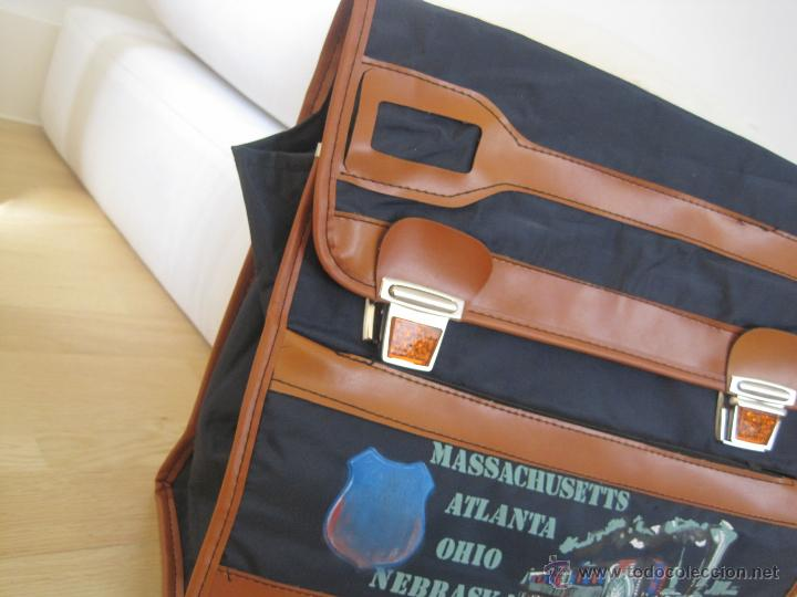 Vintage: CARTERA ESCOLAR......AÑOS 70...mochila---sin estrenar VINTAGE--CIERRES REFRACTANTES-SAFTA colegio - Foto 6 - 49878953