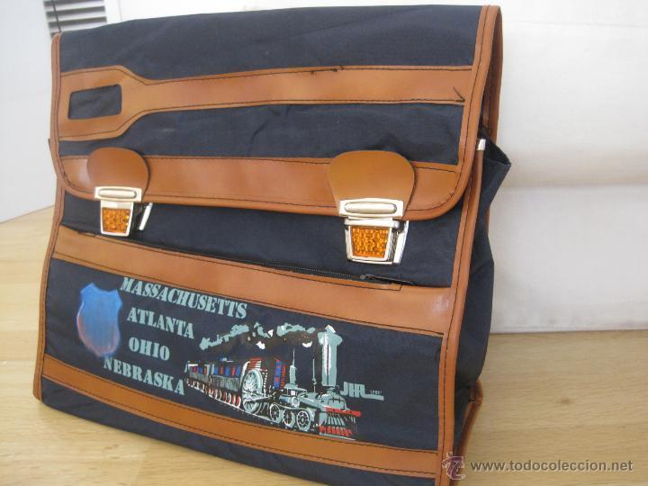 Vintage: CARTERA ESCOLAR......AÑOS 70...mochila---sin estrenar VINTAGE--CIERRES REFRACTANTES-SAFTA colegio - Foto 10 - 49878953