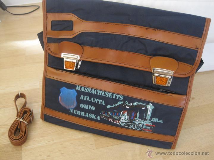Vintage: CARTERA ESCOLAR......AÑOS 70...mochila---sin estrenar VINTAGE--CIERRES REFRACTANTES-SAFTA colegio - Foto 14 - 49878953