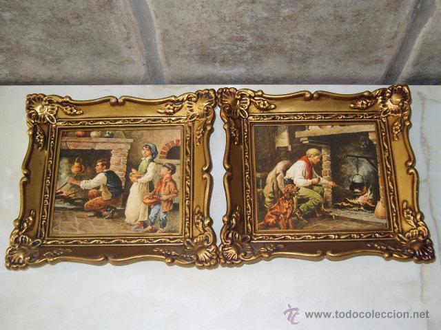 Vintage juego de cuadros laminas marco de resin comprar - Marcos de cuadros vintage ...