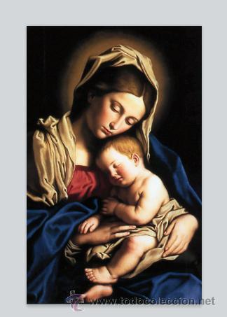 Azulejo 40x25 De La Virgen Maria Y El Niño Jesú Comprar En