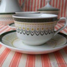 Vintage: JUEGO DE CAFÉ ROYAL CHINA VIGO AÑOS 60-70. Lote 50334291