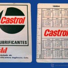 Vintage: CALENDARIO SERIE PUBLICIDAD, PUBLICADO PORTUGAL - AÑO:1984 - LUBRIFICANTES CASTROL. Lote 50421191