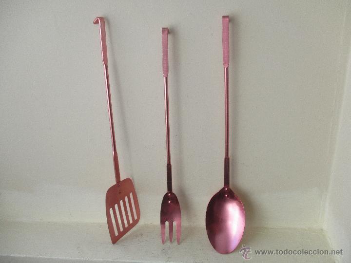 set 3 utensilios cocina de aluminio color fucsi - Comprar en ...