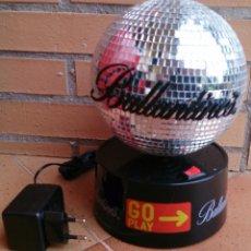 Vintage: BALLANTINES ELECTRIC DISCO BALL, BOLA DE ESPEJOS ELÉCTRICA, VINTAGE. Lote 50542318