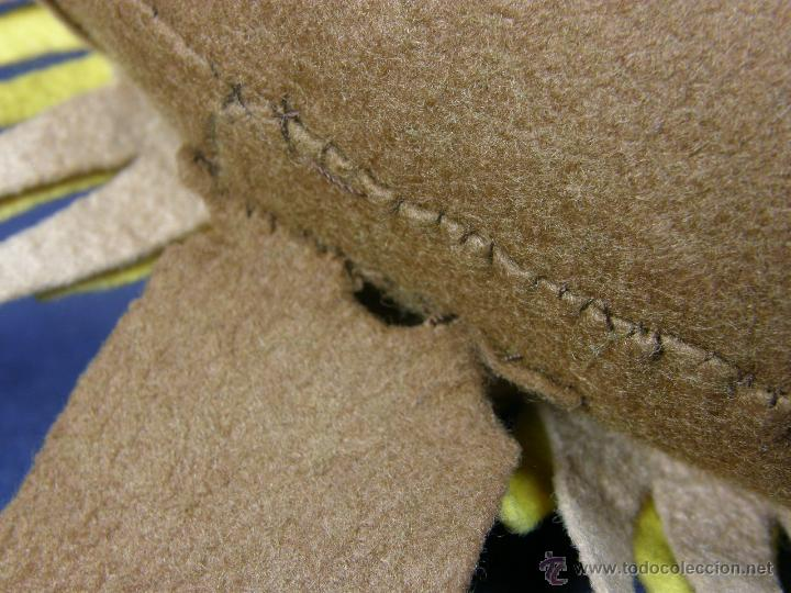 Vintage: cojín circular león años 70 lenci fieltro artesanal recortado cosido 29x11cms - Foto 5 - 50561962