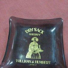Vintage: ANTIGUO CENICERO O TARJETERO.PUBLICIDAD DE DRY SACK SHERRY WILLIAMS & HUMBERT-JEREZ-ORIGINAL AÑOS 50. Lote 50605338