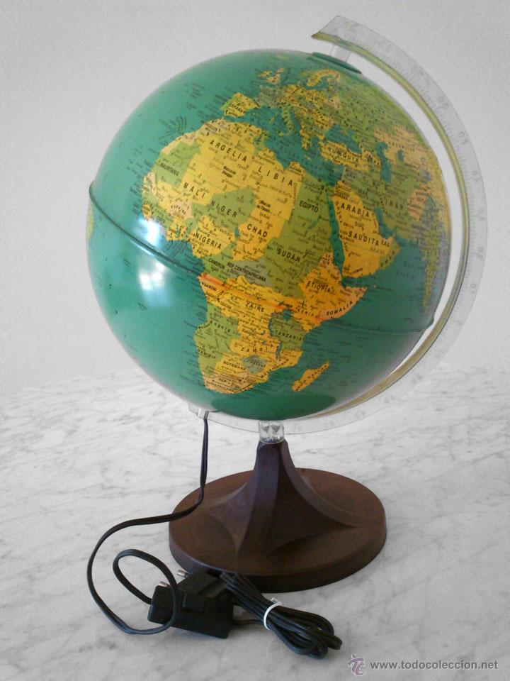 bola del mundo antigua globo terraqueo con iluminacin interior dalmau carles pla luz lmpara