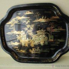 Vintage: BANDEJA DE METAL VINTAGE CHINESE PALACE AÑOS 60. Lote 50718456