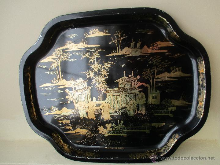 Vintage: BANDEJA DE METAL VINTAGE CHINESE PALACE AÑOS 60 - Foto 3 - 50718456
