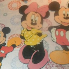 Vintage: LOTE FIGURAS DECORATIVAS MICKEY (MICKY) MOUSE Y MINNIE. Lote 50956595