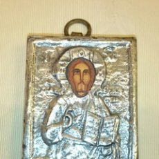 Vintage: BONITO ICONO RELIGIOSO CON FRENTE DE PLATA DE LEY - 1271. Lote 51018738