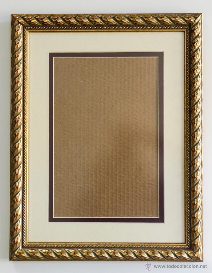 marco de madera en tonos dorado y passpartout 4 - Comprar en ...