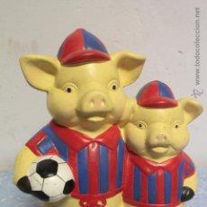 Vintage: HUCHA CERÁMICA. FUTBOL CLUB BARCELONA, BARÇA, CERDITOS. . Lote 51394611