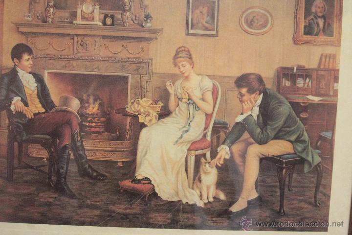 Vintage: lámina enmarcada, real academia de londres - Foto 2 - 51411459