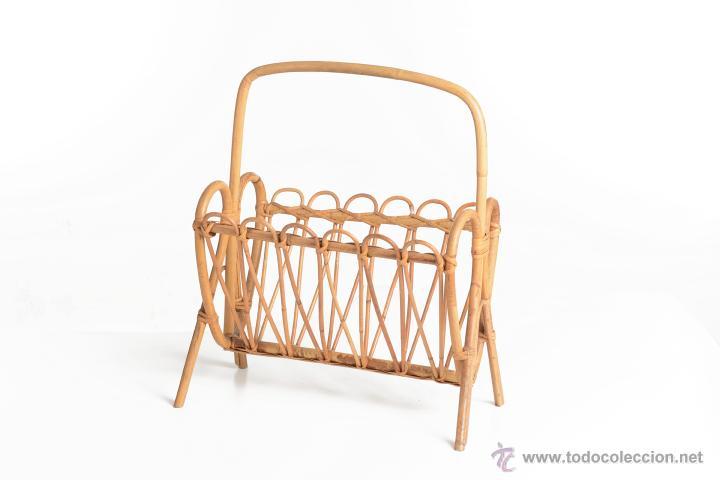 Revistero vintage de bamb decoraci n vintage comprar - Comprar decoracion vintage ...